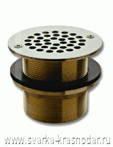 """Слив для внутренней части бассейна размером 2,5"""" со сливным отверстием диаметром 64 мм (пропускная способность 145 литров/мин) и стальной решеткой, выполняющей функцию предварительного фильтра"""