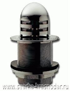 """Слив для внутренней части бассейна размером 2,5"""" из металла со сливным отверстием диаметром 64 мм (пропускная способность 145 литров/мин) с решетчатым колпаком"""