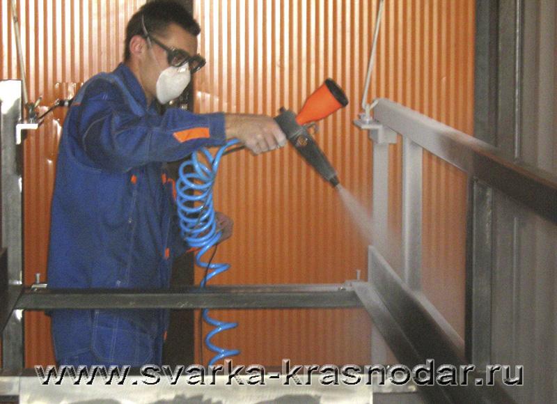 Порошковое окрашивание металлических изделий